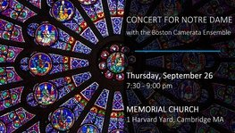 Concert for Notre Dame - September 26, 2019