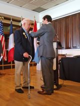 Mr. Robert Nordgren is awarded the Legion of Honor medal by Fabien Fieschi, Consul General of France in Boston - JPEG
