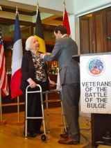 Margaret Hammond-Walenski receives the Legion of Honor Medal from Fabien Fieschi, Consul General of France in Boston - JPEG
