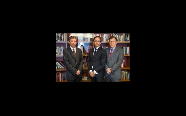 From left to right: Antoine Mynard, Scientific Attaché at the French Consulate, Evariste Lefeuvre, Chief Economist at Natixis North America's Economic Research Department, and Xavier Touret, SVP at Natixis GAM US