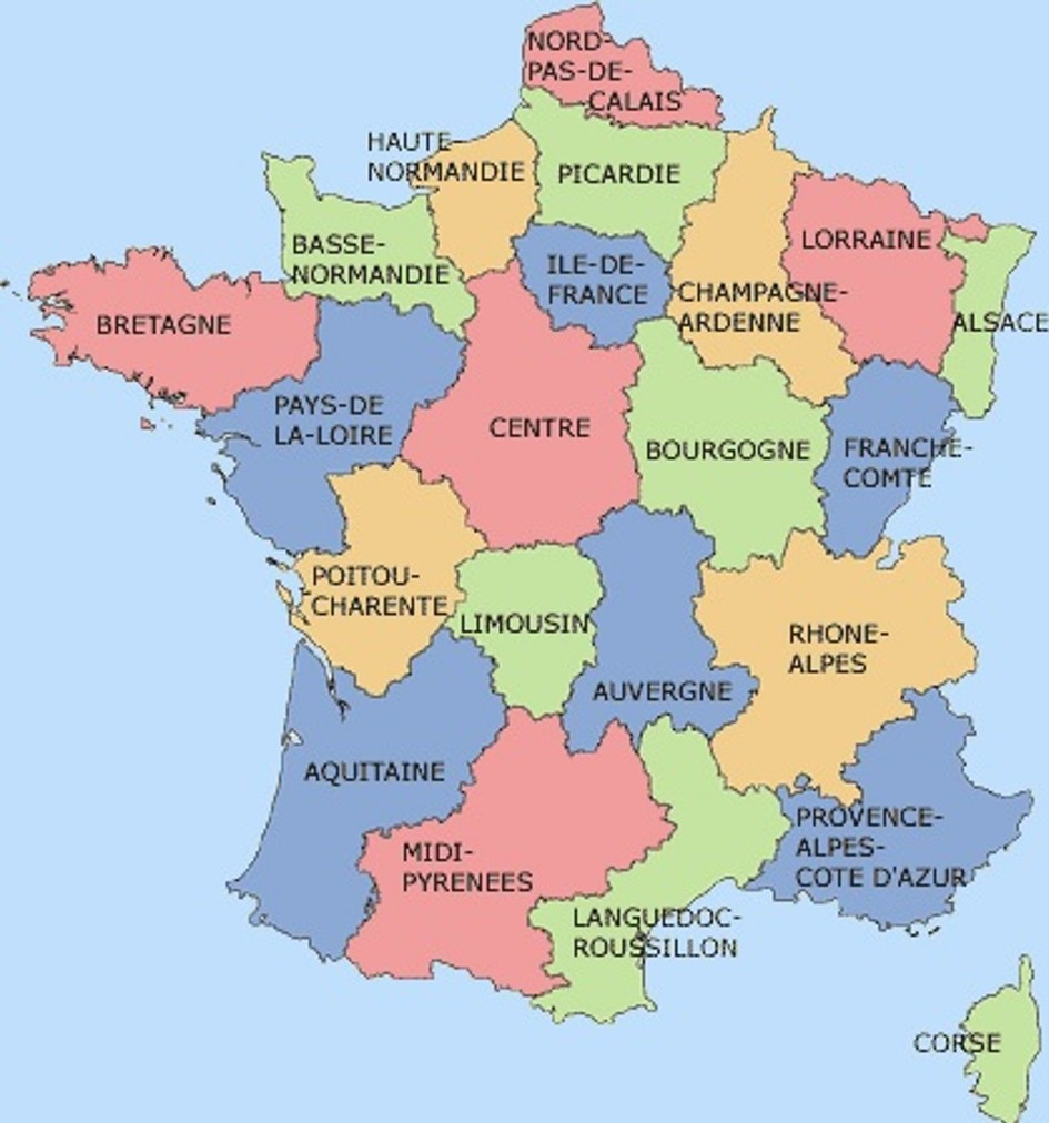Provinces Of France Map In English.French Corner Auvergne April 2016 Consulat General De France A