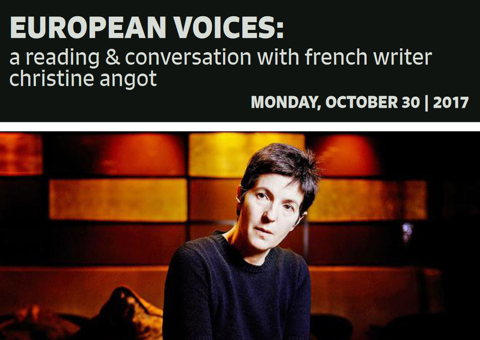 Join us for a reading and conversation with French author